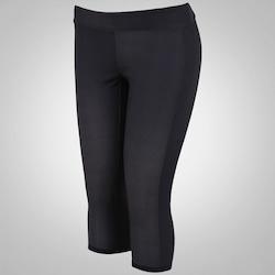 Calça Capri Reebok CrossFit Reversible Cha - Feminina - CINZA ESCURO