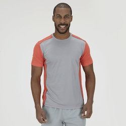 Camiseta Oxer Run Domin - Masculina - LARANJA ESC/CINZA