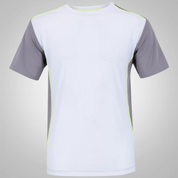 Camiseta Oxer Run Domin - Masculina - CINZA ESCURO/BRANCO