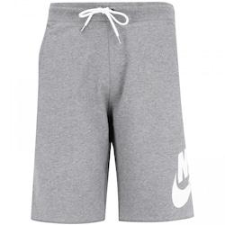 Bermuda Nike FT GX - Masculina - CINZA/BRANCO