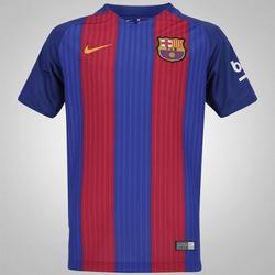Camisa Barcelona I 16/17 Nike - Infantil - AZUL/VERMELHO