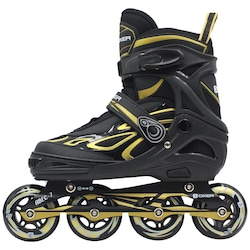 Patins Oxer Pixel - In Line - Fitness - ABEC 7 - Ajustável - Adulto - PRETO/OURO