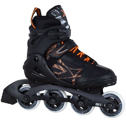 Patins Oxer Byte - In Line - Fitness - ABEC 7 - Adulto - PRETO/LARANJA