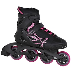 Patins Oxer Byte - In Line - Fitness - ABEC 7 - Adulto - PRETO/ROSA