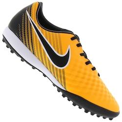 Chuteira Society Nike Magista Onda II TF - Adulto - Amarelo Esc/Branco