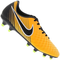 Chuteira de Campo Nike Magista Onda II FG - Adulto - Amarelo Esc/Branco
