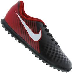 Chuteira Society Nike Magista OLA II TF - Infantil - PRETO/VERMELHO