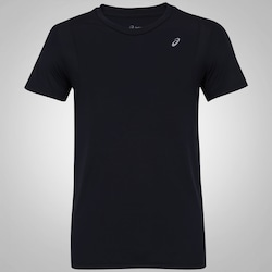 Camiseta Asics Run Mesh SS - Masculina - PRETO