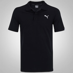 Camisa Polo Puma Ess Jersey - Masculina - PRETO