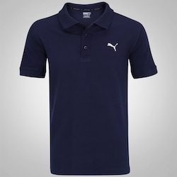 Camisa Polo Piquet Puma ESS - Masculina - AZUL ESCURO