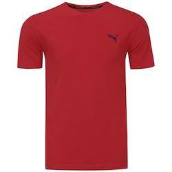 Camiseta Puma Ess - Masculina - Vermelho/Preto