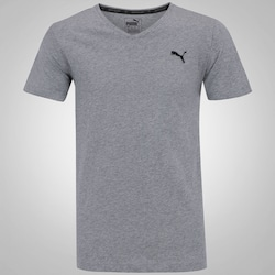 Camiseta Puma Ess V Neck - Masculina - CINZA