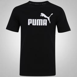Camiseta Puma Ess No. 1 Logo - Masculina - PRETO