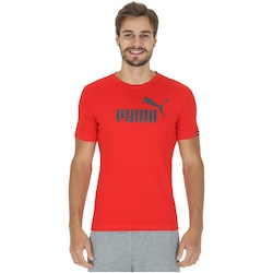 Camiseta Puma Ess No. 1 Logo - Masculina - VERMELHO/CINZA