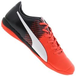 Chuteira Futsal Puma Evopower 3.3 IT BDP - Adulto - Vermelho/Preto