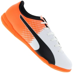1178650e53 Chuteira Futsal Puma Evospeed 5.5 Tricks It Bdp - Adulto - Branco laranja