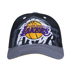 Boné Aba Curva Adidas Nba Los Angeles Lakers - Snapback - Adulto -  Preto branco 83c1b51a59f