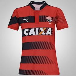 Camisa do Vitória I 2016 Puma - Feminina - Vermelho/Preto