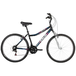 Bicicleta Caloi Rouge - Aro 26 - Freio V-Brake - 21 Marchas - Feminina - PRETO