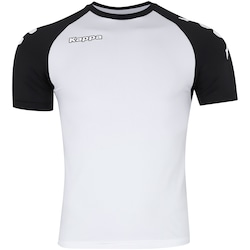 Camisa Kappa Kombat Lettering Colore - Masculina - BRANCO/PRETO