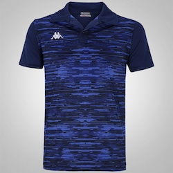 Camisa Polo Kappa Jenner - Masculina - AZUL ESC/AZUL