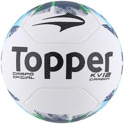 Bola de Futebol de Campo Topper KV Carbon 12 - BRANCO VERDE - Topper - 556933d612702
