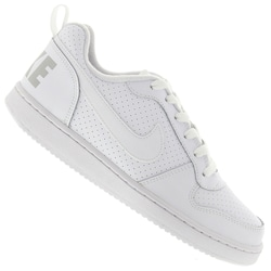 Tênis Nike Court Borough Low - Infantil - BRANCO