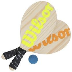 Kit de Frescobol Wilson com 2 Raquetes + Bola - Verde Cla/Laranj Esc
