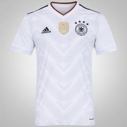 Camisa Alemanha I 2017 adidas - Masculina - BRANCO/PRETO