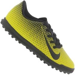 Chuteira Society Nike Bravata II TF - Infantil - Amarelo/Preto