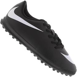 Chuteira Society Nike Bravata II TF - Infantil - PRETO/BRANCO