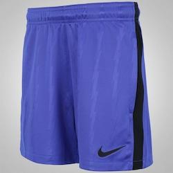 Calção Nike Dry Squad KZ - Infantil - AZUL/PRETO