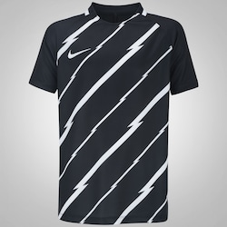 Camiseta Nike Breathe Top Squad - Infantil - PRETO/BRANCO