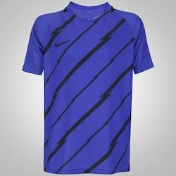 Camiseta Nike Breathe Top Squad - Infantil - AZUL/PRETO