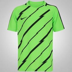 Camiseta Nike Breathe Top Squad - Infantil - VERDE CLARO/PRETO