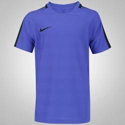 Camiseta Nike Dry Top Squad - Infantil - AZUL/PRETO