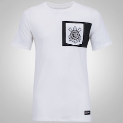 Camiseta do Corinthians Crest Nike com Bolso - Masculina - BEGE