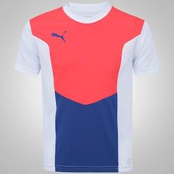 Camiseta Puma Football Training - Masculina - BRANCO/ROSA