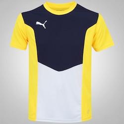 Camiseta Puma Football Training - Masculina - AMARELO/BRANCO