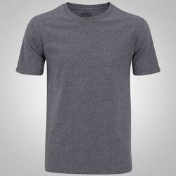 Camiseta Oxer Melange Confort - Masculina - CINZA ESCURO