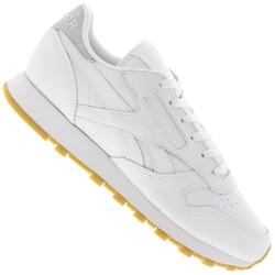 Tênis Reebok CL Leather Met Diamond - Feminino - BRANCO