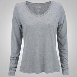 Camiseta Manga Longa Oxer Basic - Feminina - CINZA