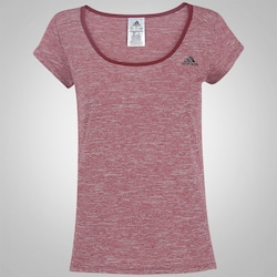 Camiseta adidas Mescla - Feminina - VINHO