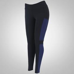 Calça Legging com Bolso Oxer Romain - Feminina - PRETO/AZUL ESC