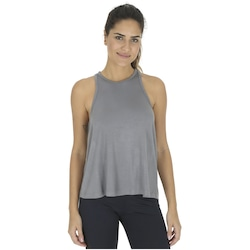 Camiseta Regata Cropped Oxer Light - Feminina - CINZA ESCURO