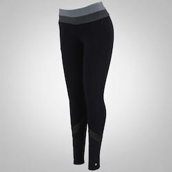 Calça Legging com Proteção Solar UV Oxer Triple - Feminina - PRETO/CINZA