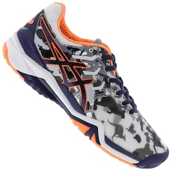 Tênis Asics Gel Resolution 7 L. E. Melbourne - Masculino - BRANCO/AZUL ESC