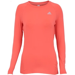 7091f4a753 Camiseta Manga Longa Com Proteção Solar Uv Adidas Techfit Top - Feminina -  Laranja