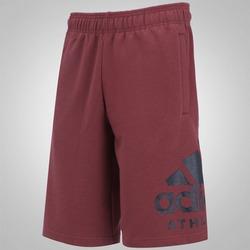 Bermuda de Moletom adidas Id Athletics Logo - Masculina - Vinho/Preto