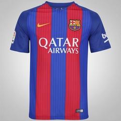 Camisa Barcelona I 16/17 Nike com Patrocínio - Masculina - AZUL/VERMELHO